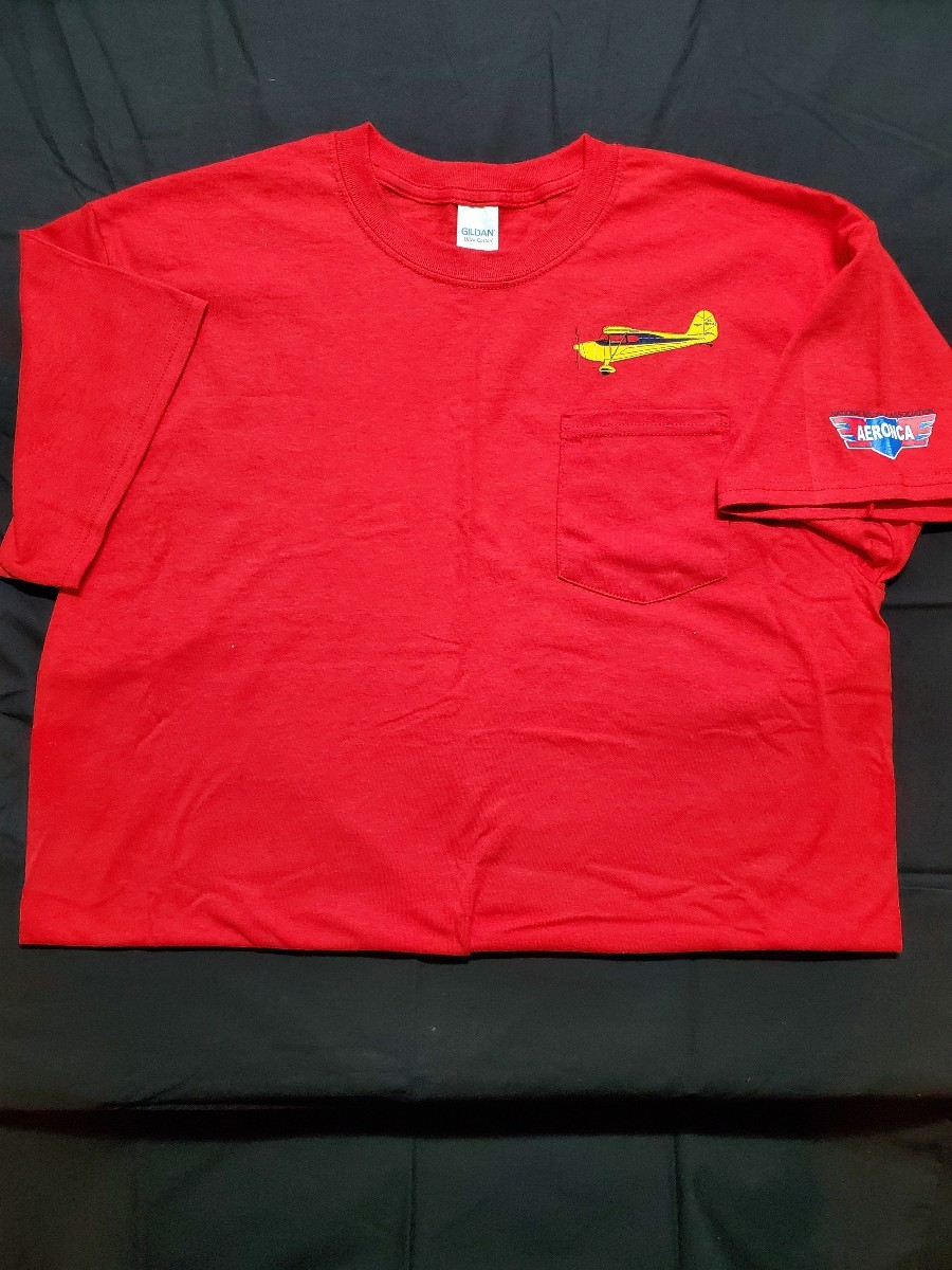 Chief Pocket T front & back - Red